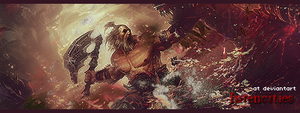 Barbarian, Diablo 3 - Forum Signature by craftyaegis