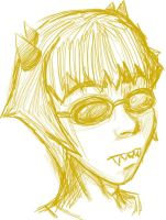 Pys Sollux Captor line art by DB-Riddle