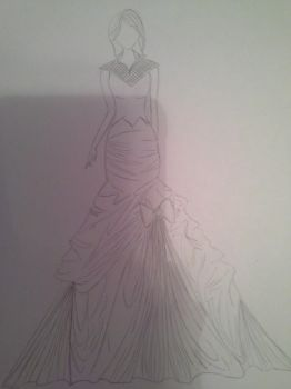 first time fashion sketch by LovelyAmbey