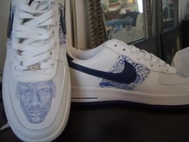 Custom AF1's Etched by nughed10
