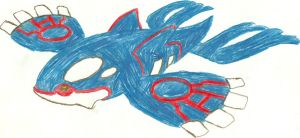 Kyogre Sketch by CoolMan666