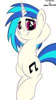 drawponies and bm presents: Vinyl Scratch by bloody--mascarade