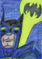 Calling Batman_ Sketch card by Dreamerzina