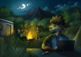 Night Camp by jrtracey