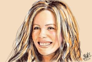 Kate Beckinsale (iPad finger painting) by chaseroflight