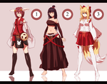 Fullbody Adoptables Japanese Theme by Cotton-Reaper-Adops