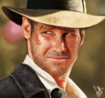 Indiana Jones Portrait by dadachan87