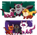 Them Cat OCs by deltari2