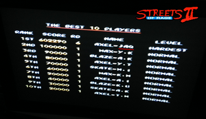 Streets of Rage II - Highscore challenge by SCIFIJACKRABBIT