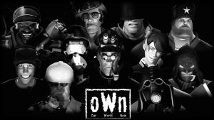 [SFM] Team Fortress 2 - oWn Wallpaper by LoneWolfHBS