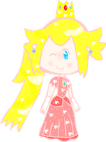 Sparkly Princess Peach by Bashful-Bubbles