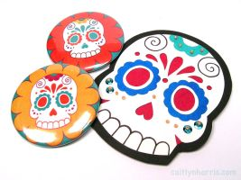 2012 Day of the Dead Pin by radishninja