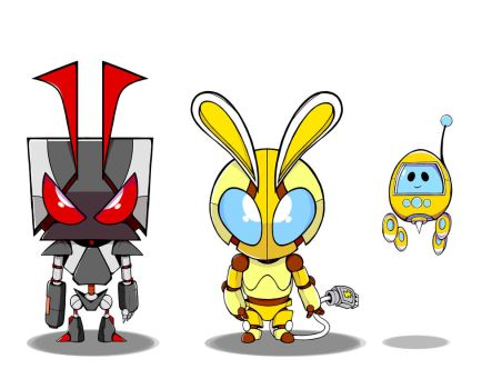 Robot Line Up by PKFoxas