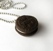 Mini Oreo Cookie Necklace by AsianBunni