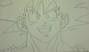 Goku Cocky Face by XKatimaDBZX