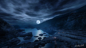 [Dear Esther] Moonlit Shore by SirLeo09