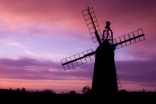 Sunset behind Windmill by Nicola-B
