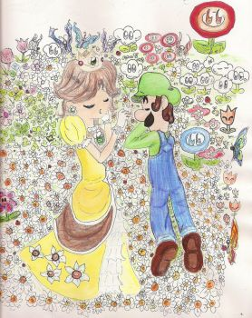Daisy and Luigi by Humdeedum233