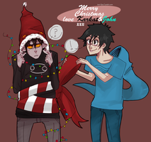 holiday wishes from john and karkat by 15p