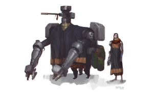 Robot/North African Dude combo by Mattinian