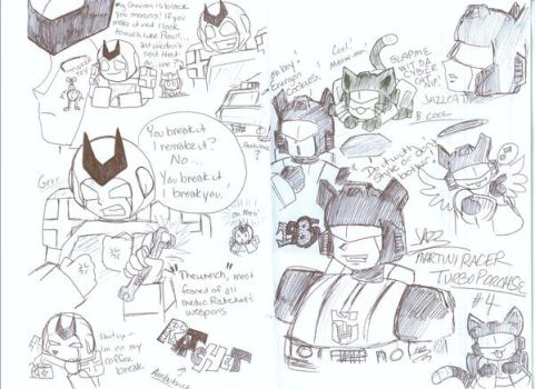 Jazz and Ratchet Work Sketches by Kage-Jaganshi