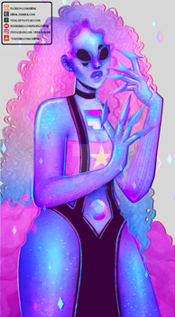 Rose Quartz + Bismuth Fusion [Speedpaint] by H0nk-png