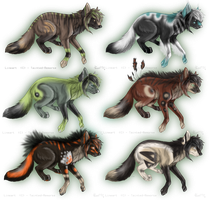 25 Point Wolf/Canine Adopts CLOSED by Pineaapple