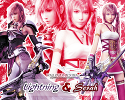 Farron sisters - Lightning and Serah by ladylucienne