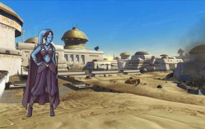 Star Wars Leia Visit Tatooine by Aliens-of-Star-Wars