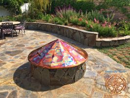 Kittell's Fire Pit Copper Cover 2 by DarrianAshoka