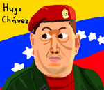 Hugo Chavez drawing on Muro by DragonQuestWes
