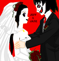 Jeff The Killer x Jane The Killer~Wedding by TheSubject115FT