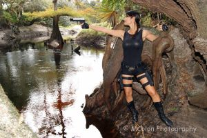 Lara Croft at the River by Ivy95