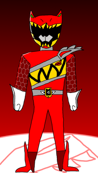 Dino charge red ranger in my style by Badrater