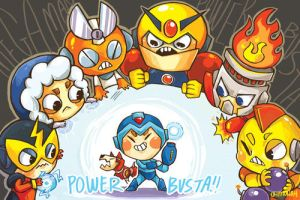 Mega Man: POWER BUSTA by ohmonah