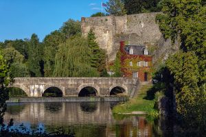 bridge Fresnay sur Sarthe France by hubert61