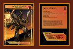 Rainmaker Nova Storm collector card front and back by BDixonarts