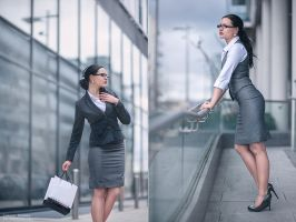 Office Girl by TomaszKornas