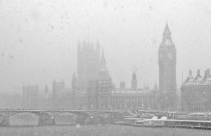 Snowy London III by Mohain