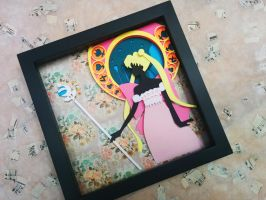 Sailor Moon Crystal Paper Cut by smallrinilady