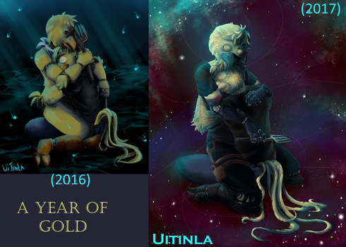Year of Gold before and after by Uitinla