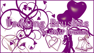 GIMP Wedding Brushes by Illyera
