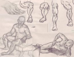 Figure drawing and studies, Male by Animator-who-Draws
