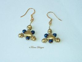 14K Gold Hooks Zora Sapphire Earrings Handmade #9 by TorresDesigns