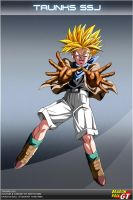 Dragon Ball GT - Trunks SSJ by DBCProject