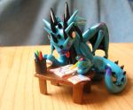 Cartoon Dragon Who is Painting by ByToothAndClaw