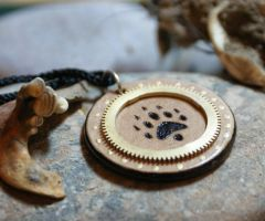 Steampunk Ferret Paw print by RiverOtterWidget