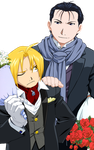 Edward Elric and Roy Mustang elegance by Narusailor