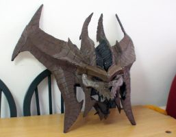 Diablo costume WIP - the head by Clivelee