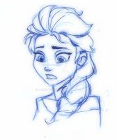 quick sketch - Elsa by pokrzyva